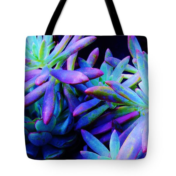 Colorful Dancing Succulents Tote Bag