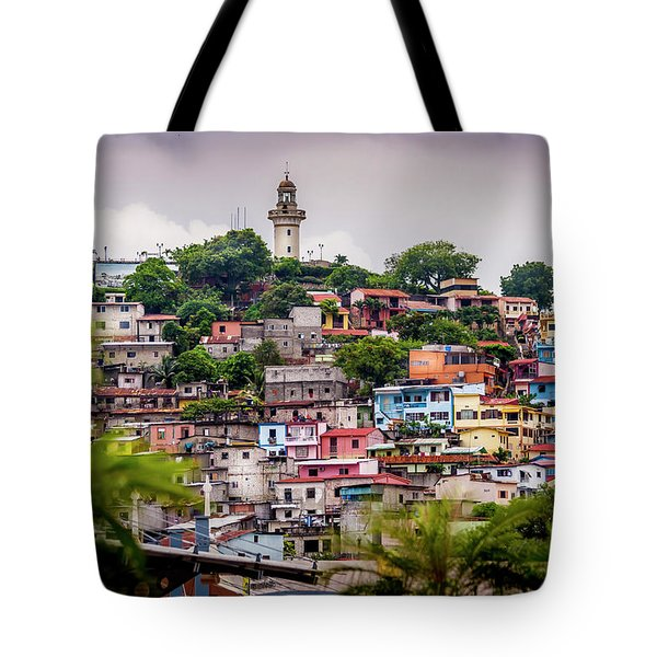 Colorful Houses On The Hill Tote Bag