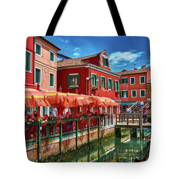 Colorful Day In Burano Tote Bag