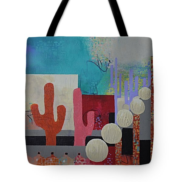 Tote Bag featuring the painting Colorful Desert by April Burton