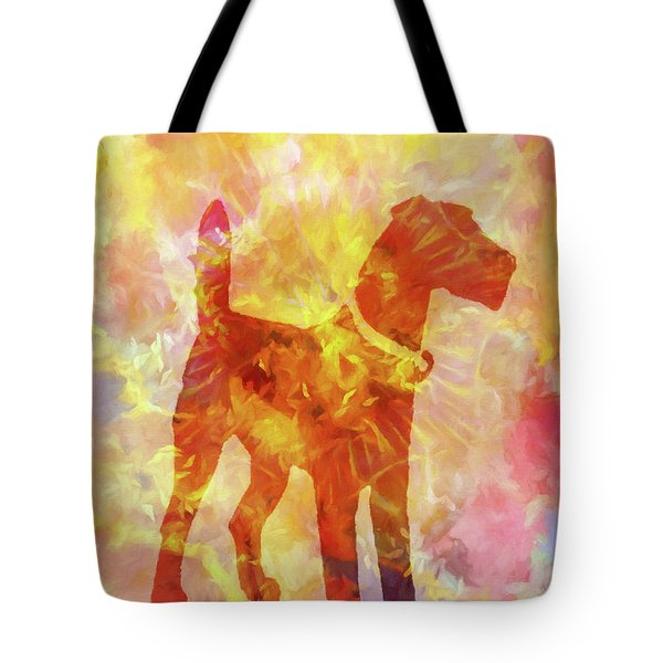 Colorful Dog Tote Bag