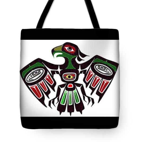 Colorful Eagle Symbol Tote Bag