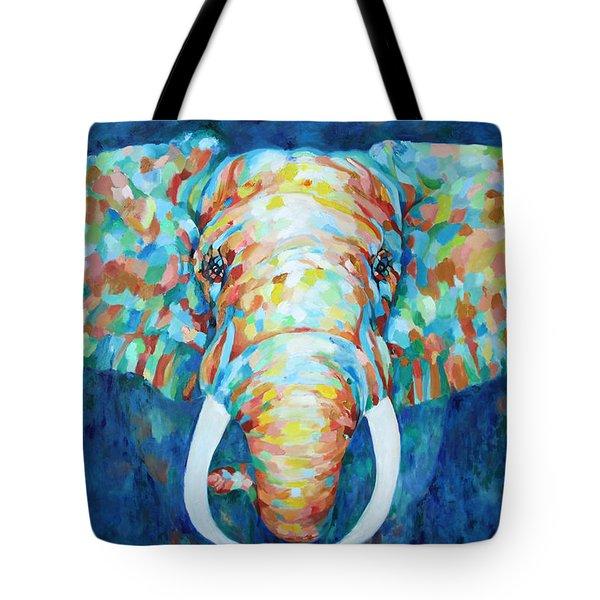 Colorful Elephant Tote Bag