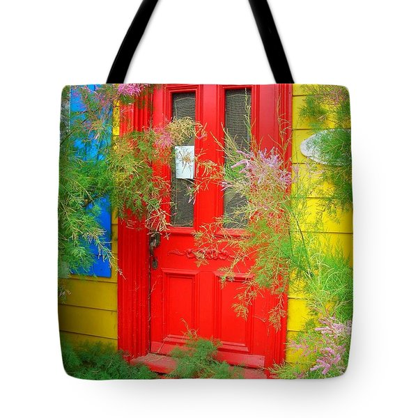 Colorful Entrance ... Tote Bag by Juergen Weiss
