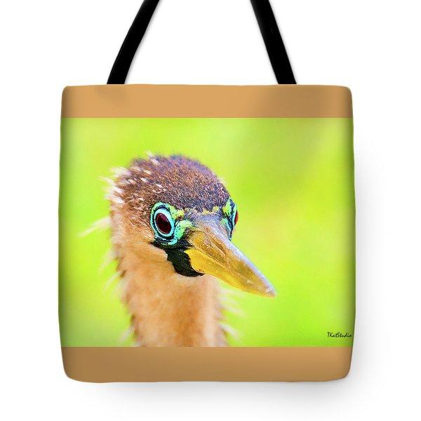 Colorful Female Anhinga Tote Bag