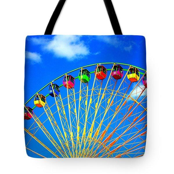 Colorful Ferris Wheel Tote Bag