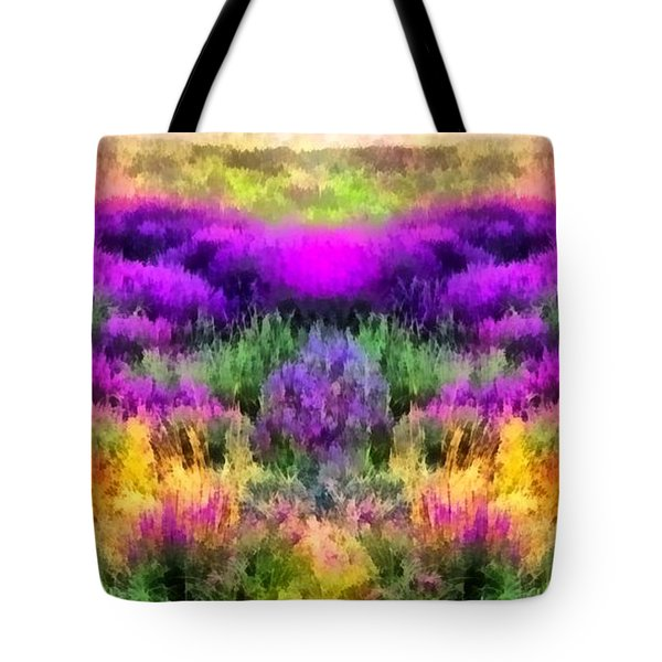 Colorful Field Of A Lavender Tote Bag by Anton Kalinichev