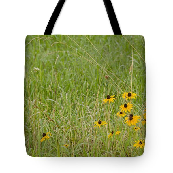Tote Bag featuring the photograph Colorful Field by Wanda Krack