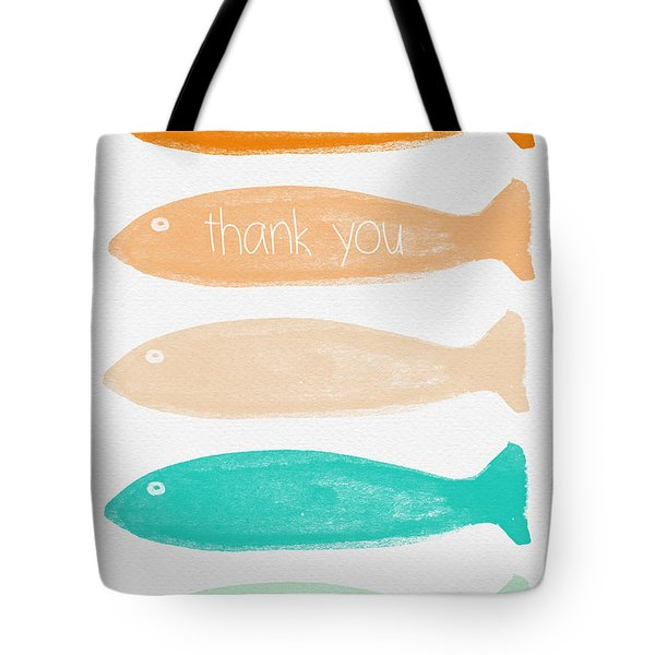 Colorful Fish Thank You Card Tote Bag