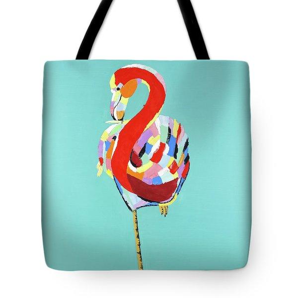 Colorful Flamingo Tote Bag