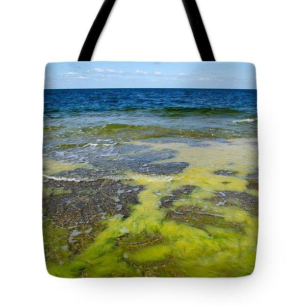 Colorful Flat Rock Coast Tote Bag