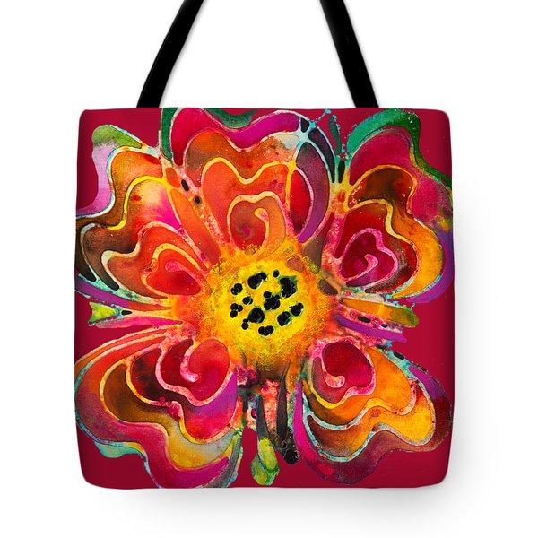 Colorful Flower Art - Summer Love By Sharon Cummings Tote Bag