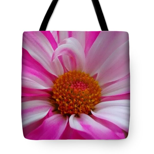 Colorful Flower Tote Bag by Dustin Soph