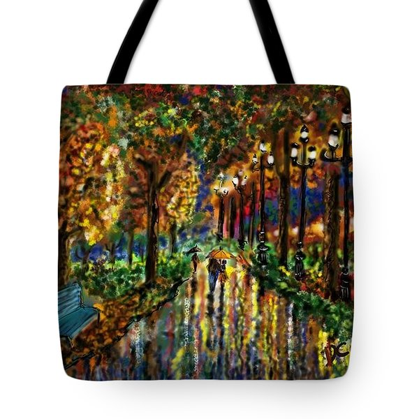 Tote Bag featuring the digital art Colorful Forest by Darren Cannell