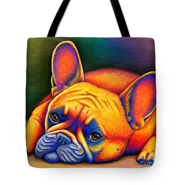 Colorful French Bulldog Tote Bag