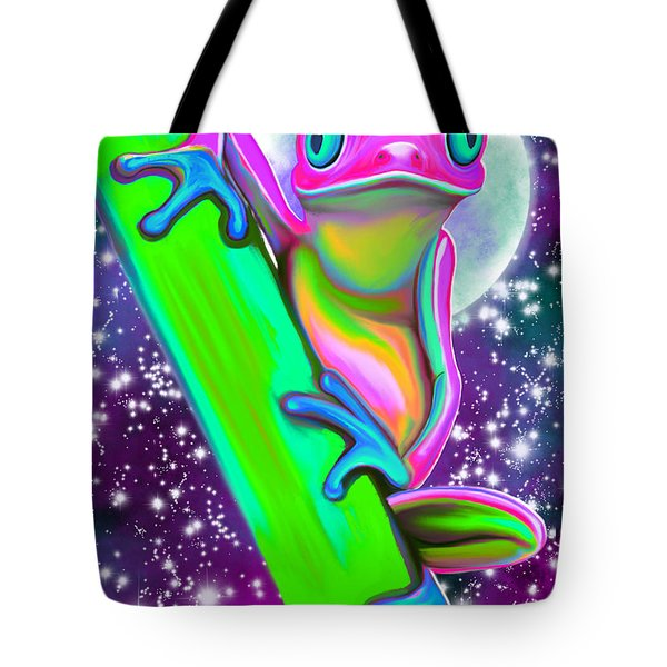 Colorful Frog In The Moonlight Tote Bag
