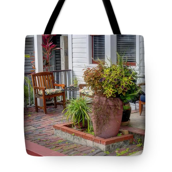 Colorful Front Porch Patio Tote Bag