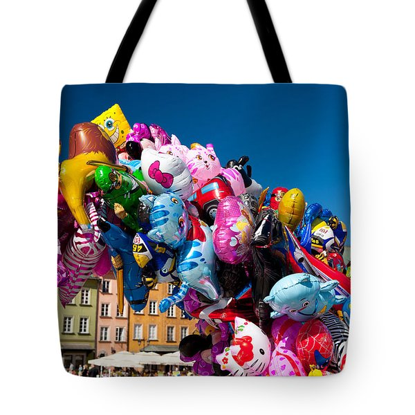 Colorful Funny Balloons At Old Town Tote Bag