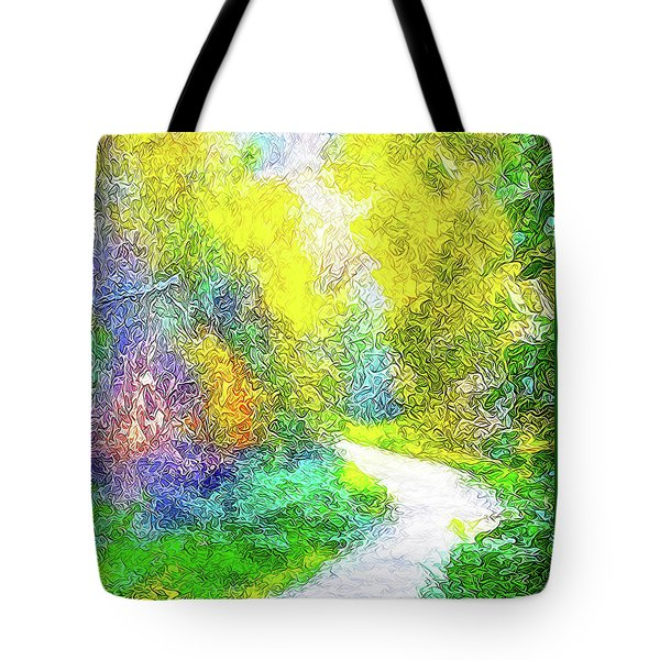 Colorful Garden Pathway - Trail In Santa Monica Mountains Tote Bag by Joel Bruce Wallach