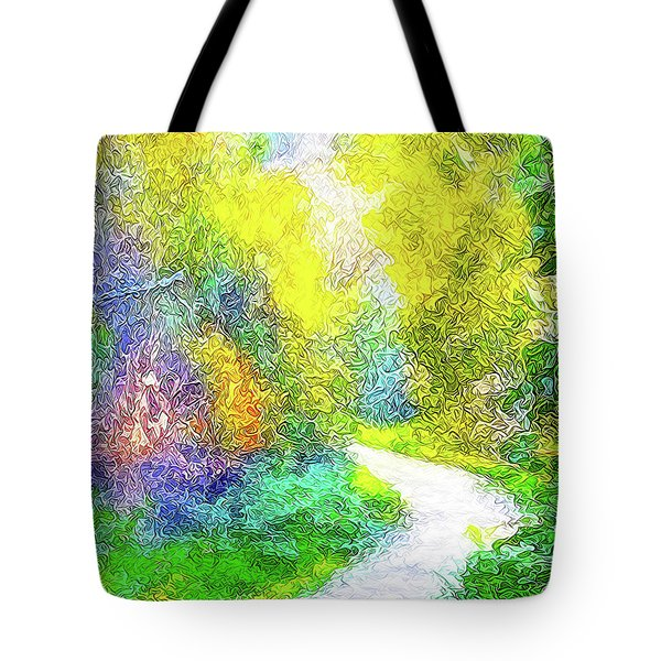Colorful Garden Pathway - Trail In Santa Monica Mountains Tote Bag