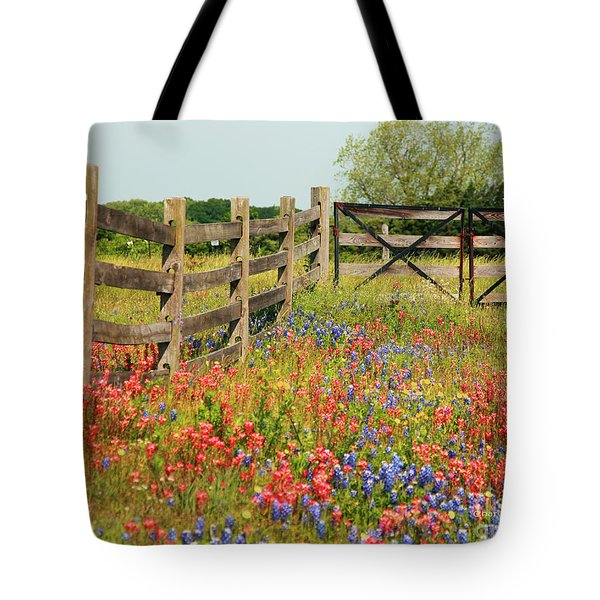 Tote Bag featuring the photograph Colorful Gate by Charles McKelroy