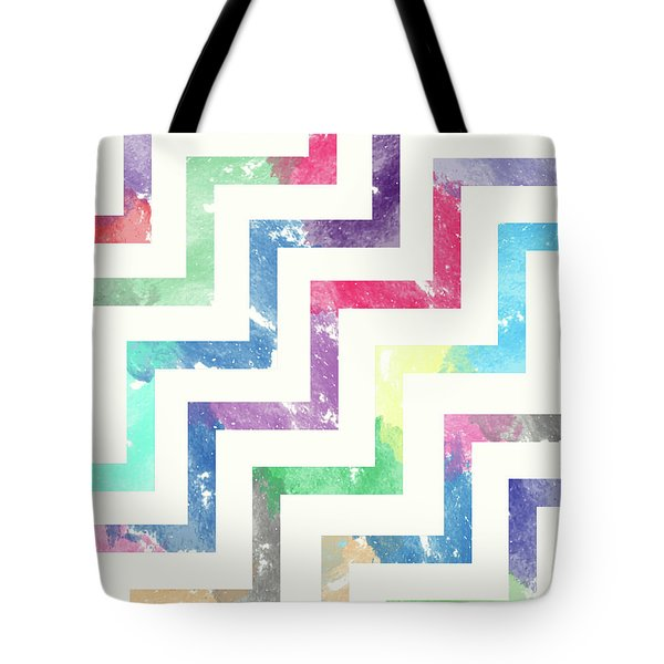 Colorful Geometric Patterns Vi Tote Bag