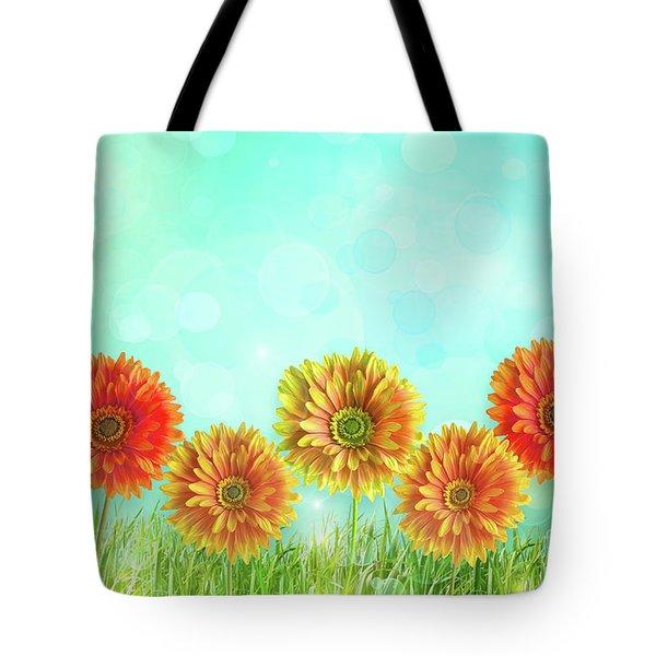 Colorful Gerbers Flowers  Tote Bag