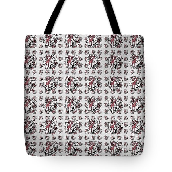 Colorful Giraffe Illustration Pattern Tote Bag