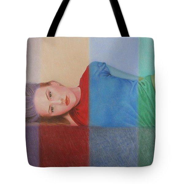 Colorful Girl Tote Bag