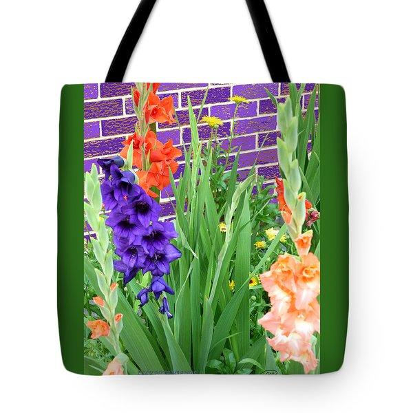 Colorful Gladiolas Tote Bag