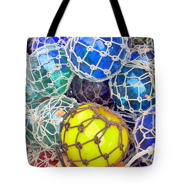 Colorful Glass Balls Tote Bag