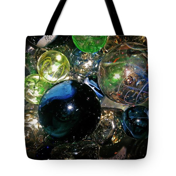 Colorful Glass Marbles Tote Bag