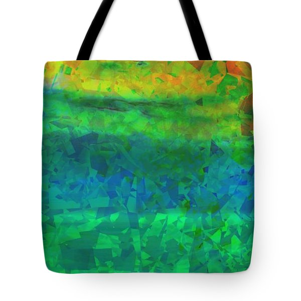 Tote Bag featuring the photograph Colorful Green Abstract by Yali Shi