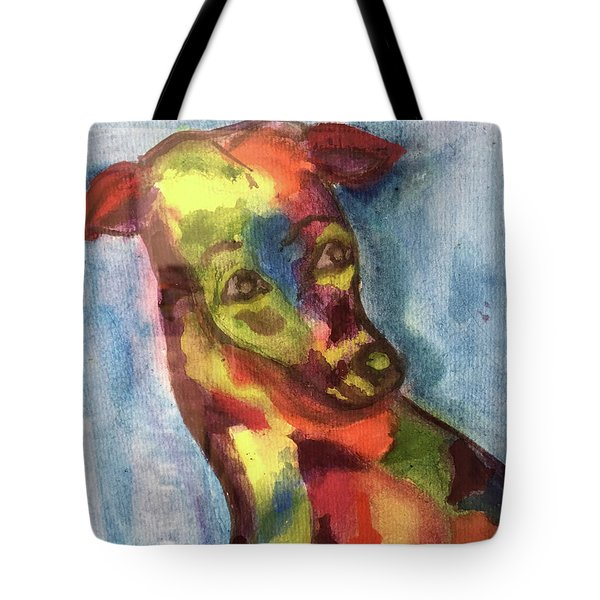Colorful Greyhound Tote Bag