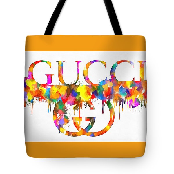 Colorful Gucci Paint Splatter Tote Bag