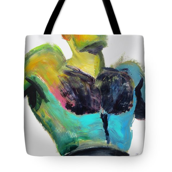 Colorful Hairy Boxer Tote Bag
