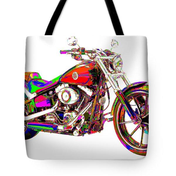 Colorful Harley-davidson Breakout Tote Bag