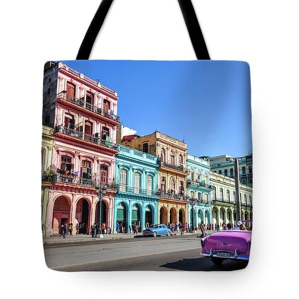 Colorful Havana Tote Bag