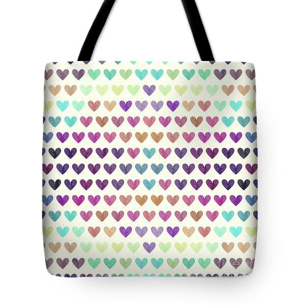 Colorful Hearts IIi Tote Bag