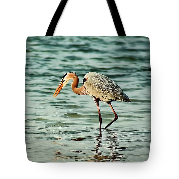 Colorful Heron Tote Bag
