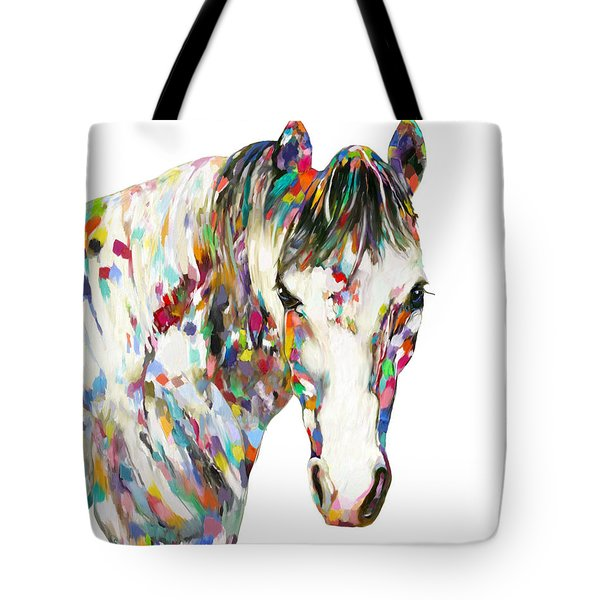 Colorful Horse Tote Bag
