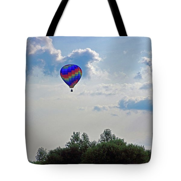 Tote Bag featuring the photograph Colorful Hot Air Balloon by Angela Murdock
