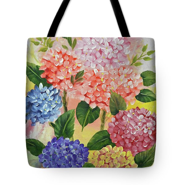 Colorful Hydrangeas Tote Bag by Jimmie Bartlett