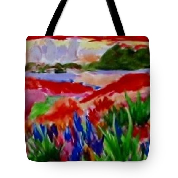 Tote Bag featuring the painting Colorful by Jamie Frier