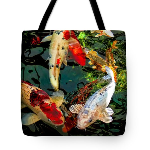 Colorful  Japanese Koi Fish Tote Bag