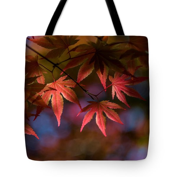 Colorful Japanese Maple Tote Bag