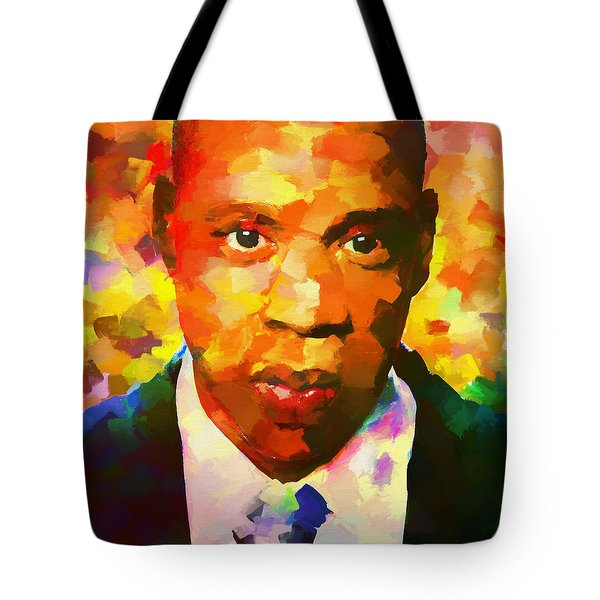 Colorful Jay Z Palette Knife Tote Bag by Dan Sproul