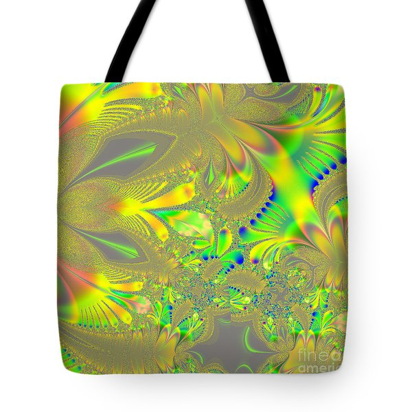 Colorful Jeweled Abstract Tote Bag by Linda Phelps