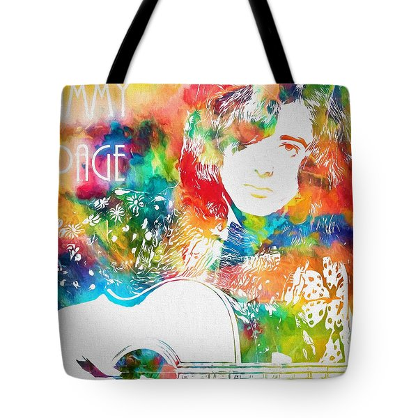 Colorful Jimmy Page Tote Bag