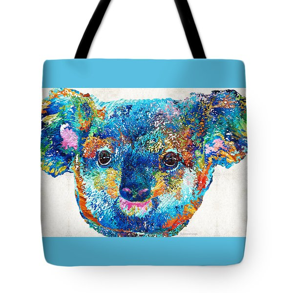 Colorful Koala Bear Art By Sharon Cummings Tote Bag by Sharon Cummings
